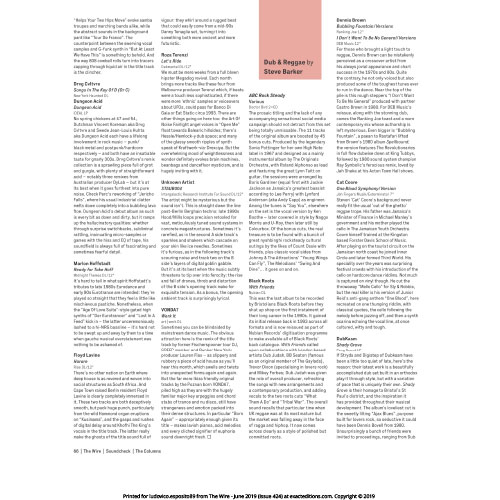 The Wire Magazine June 2019 reviews 'STAUB 004 EP'