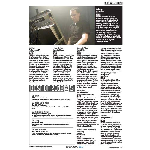 DJ MAG Italy reviews Makaton 'Immaculata'