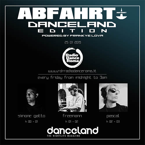 Simone Gatto features on Abfahrt Danceland radio show
